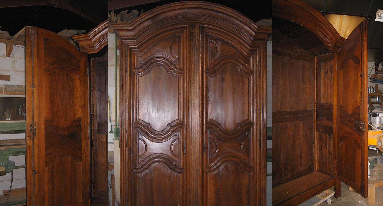 Photo d'une armoire Louis XIV restaurée par les ateliers Alain Maury