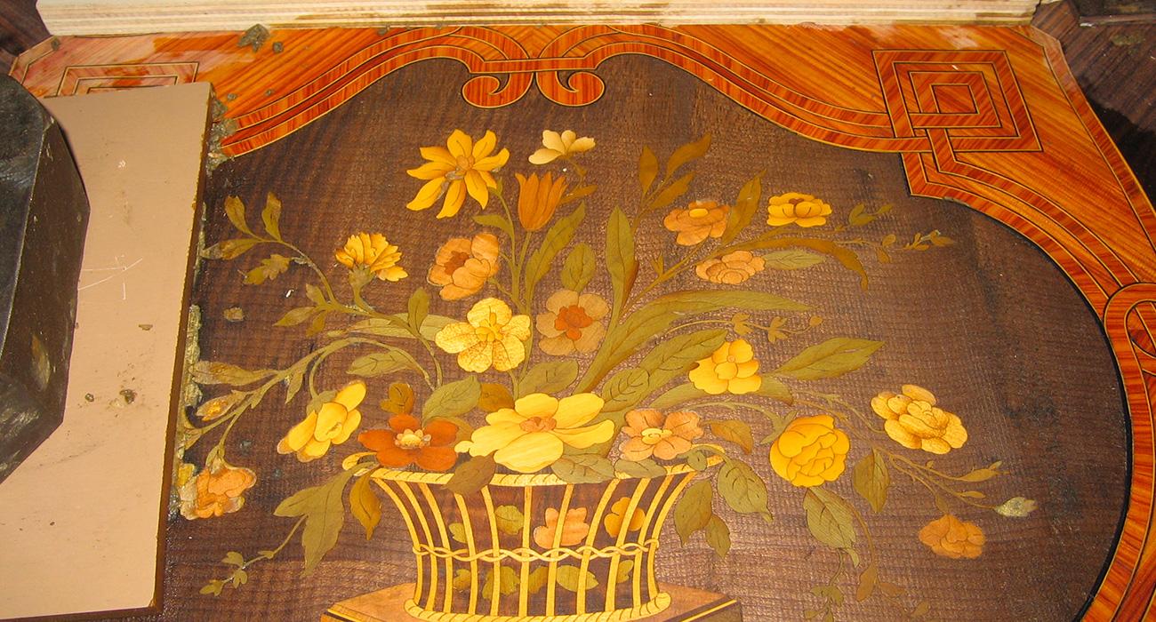 Copie d'un secrétaire Louis XVI en Bois de rose et Amarante - Ossature Chêne - Ateliers Alain Maury - Villemandeur