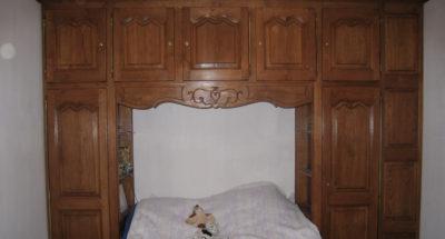 Chambre à coucher en chêne massif avec sculptures personnalisées - Ateliers Maury - Villemandeur