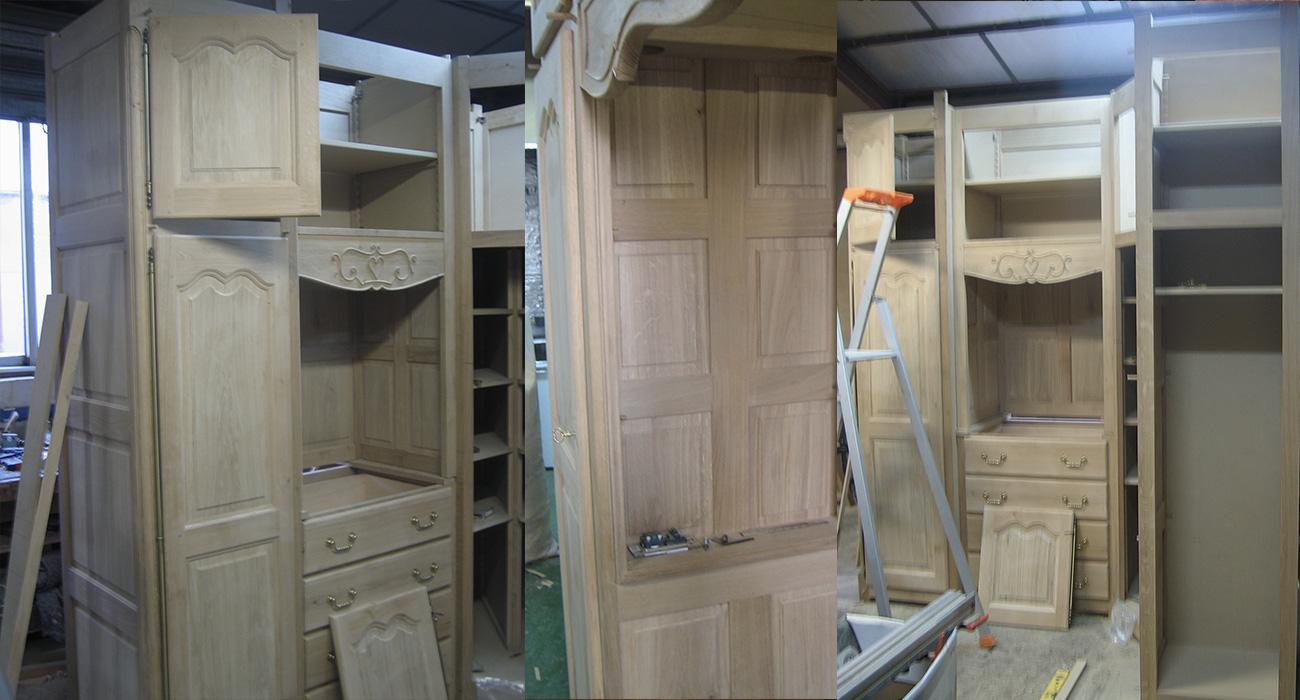 ... Chambre à Coucher En Chêne Massif Avec Sculptures Personnalisées    Ateliers Maury   Villemandeur
